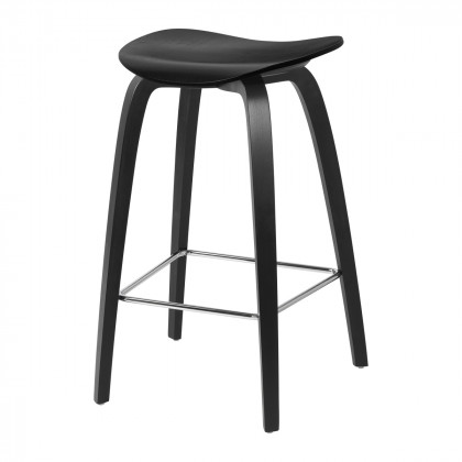 Gubi 2D Counter Stool - Un-Upholstered, 65, Wood Base