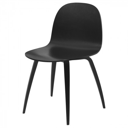 Gubi 2D Dining Chair - Un-upholstered - Wood Base