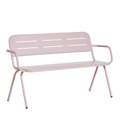 Woud Ray Outdoor Bench With Armrest