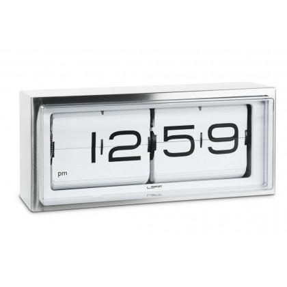 Leff Amsterdam Brick 24 Hour Flip Desk/Wall Clock, White