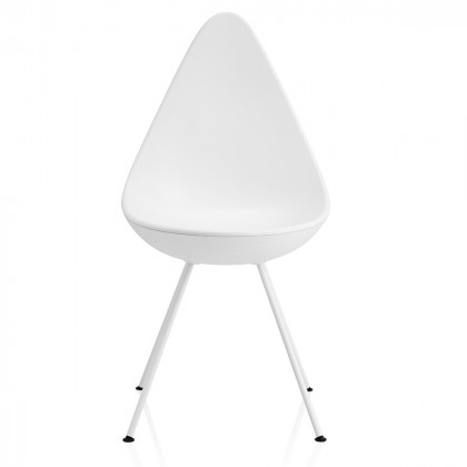 Fritz Hansen Drop Chair - Powder Coated Base