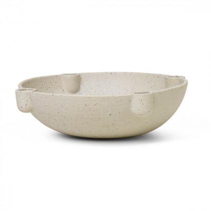 Ferm Living Bowl Candle Holder - Large - Ceramic