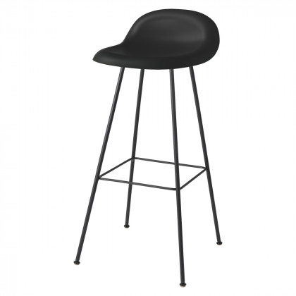Gubi 3D Bar Stool - Un-Upholstered, 75, Center Base