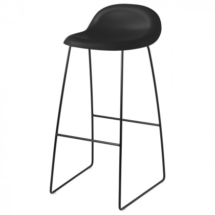 Gubi 3D Bar Stool - Un-Upholstered, 75, Sledge Base
