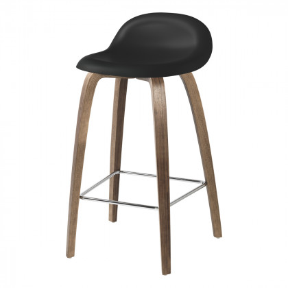 Gubi 3D Counter Stool - Un-Upholstered - 65 cm - Wood Base