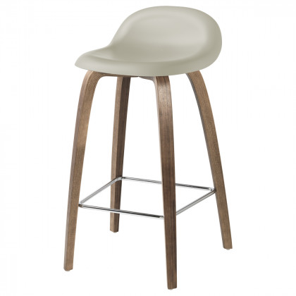 Gubi 3D Bar Stool - Wood Base