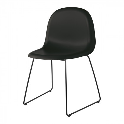Gubi 3D Dining Chair - Un-Upholstered - Sledge Base, Stackable