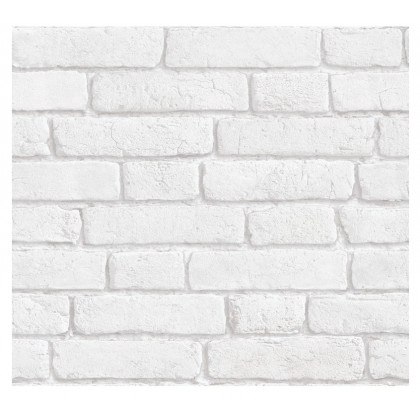 Coronation White Brick Wallpaper