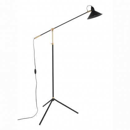 Dutchbone Patt Black & Brass Floor Lamp