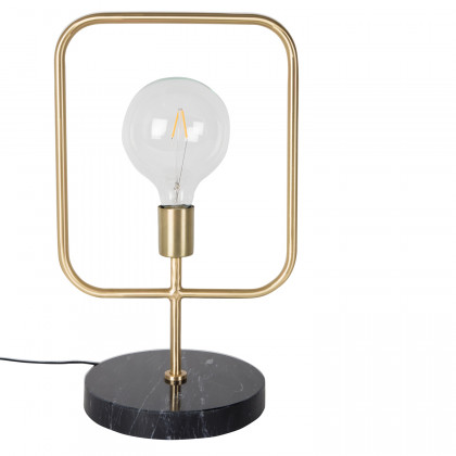 Dutchbone Cubo Brass / Marble Table Lamp
