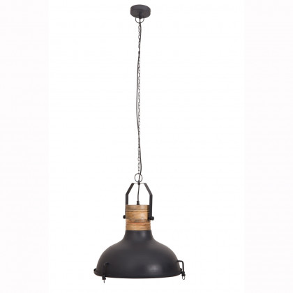 Dutchbone Raw Industrial Metal/Wood Pendant Light
