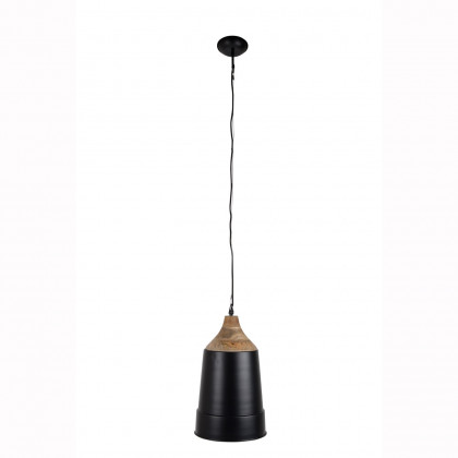 Dutchbone Wood And Metal Pendant Lamp - Black