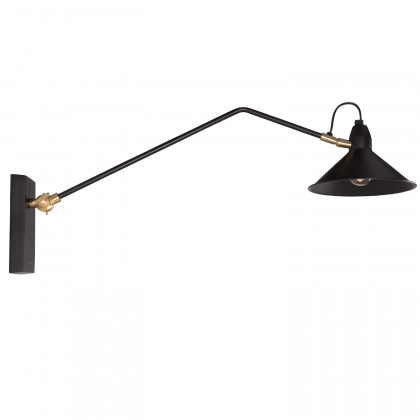 Dutchbone Patt Black & Brass Wall Lamp