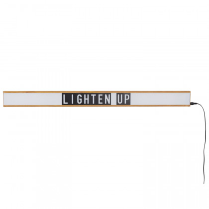 Zuiver Saber Letter Light Box Wall Light