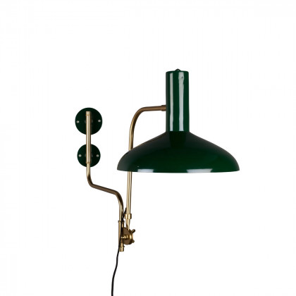 Dutchbone Devi Wall Lamp - Green / Brass