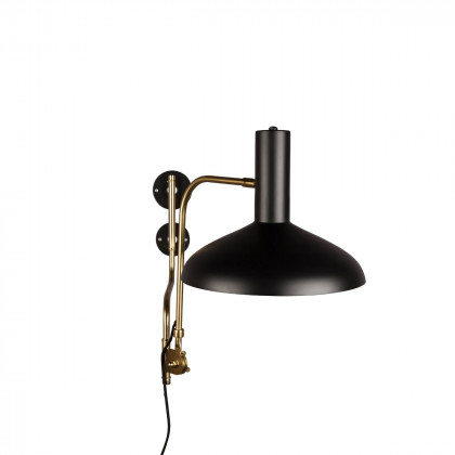 Dutchbone Devi Wall Lamp - Black / Brass