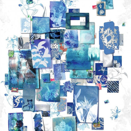 Christian Lacroix Follete Bleu de Roi Wallpaper