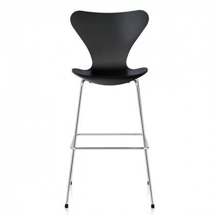 Fritz Hansen Series 7 Counter Stool, Clear Lacquer