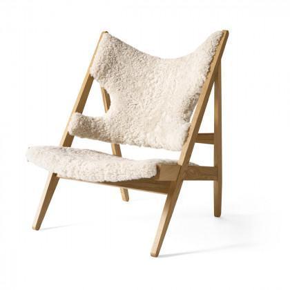 Menu Knitting Lounge Chair - Sheepskin