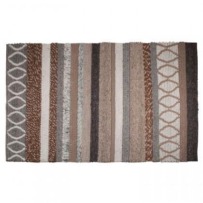 Zuiver Woollen Striped Norway Rug - Beige
