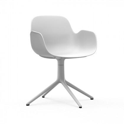 Normann Copenhagen Form Swivel Armchair-White