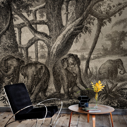 Coordonne Elephants Mural Wallpaper