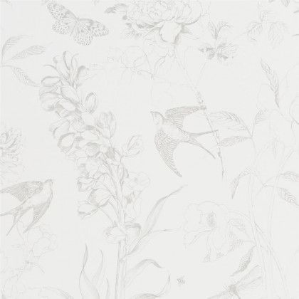 Designers Guild Sibylla Wallpaper - Silver (4 rolls from a batch)