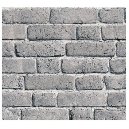 River Slate Grey Brick Wallpaper