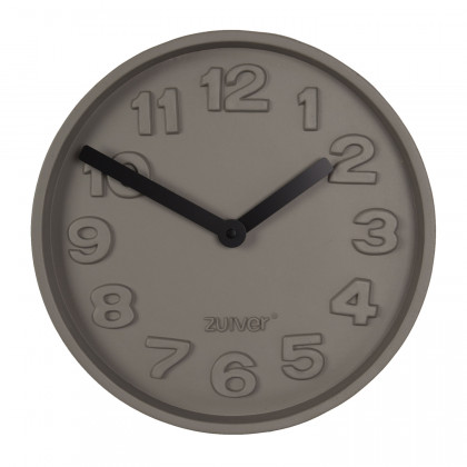 Zuiver Concrete Clock with Black Hands