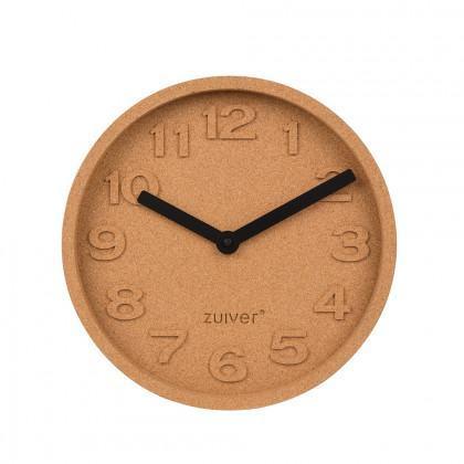 Zuiver Cork Clock With Black Hands