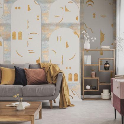 Coordonne Rostros Mural Wallpaper