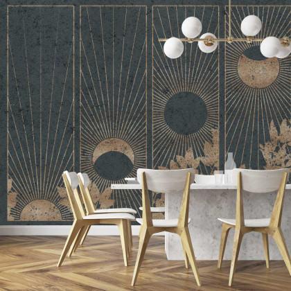 Coordonne De Lat Mural Wallpaper