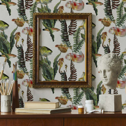 Coordonne Bank of Fish Wallpaper