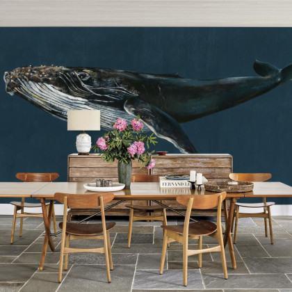 Coordonne Humpback Whale Mural Wallpaper
