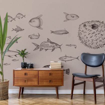 Coordonne Sea Current Mural Wallpaper