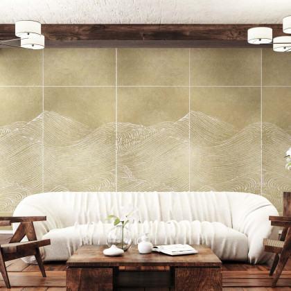 Coordonne Waves Metallics Mural Wallpaper