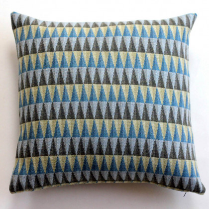 Chalk Wovens Prism Cushion - Turquoise