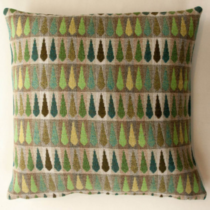 Chalk Wovens Fern Cushion - Jade