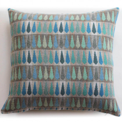 Chalk Wovens Fern Cushion - Turquoise