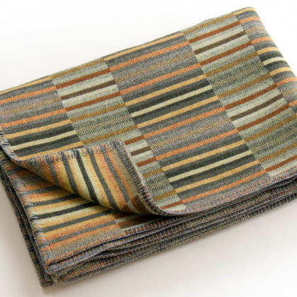 Chalk Wovens Reeds Throw - Copper