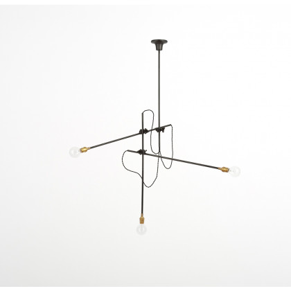 Workstead Industrial Multi Arm Chandelier - Black