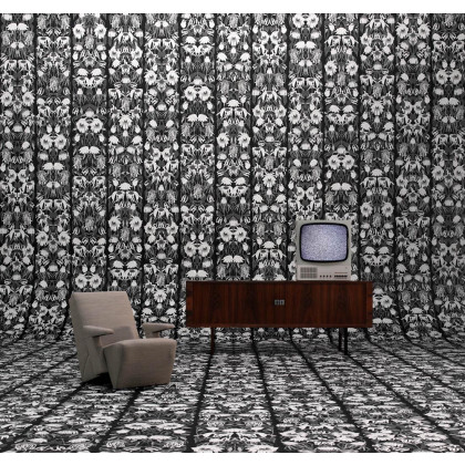 NLXL Studio Job Wallpaper Withered Flowers Black