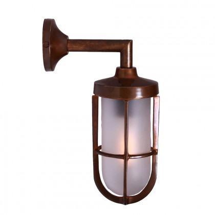 Brass Well Glass Wall Light