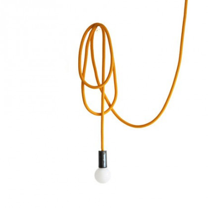 Pani Jurek Loop Line Pendant Light - With Rope, Fixture and Ceiling Rose - Yellow, White