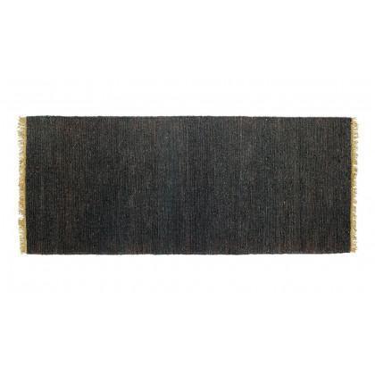 Massimo Rugs 80 x 200 cm Black Sumace Rug Handknotted - Black