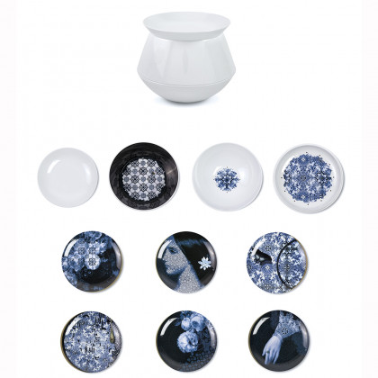 ibride Luso Set of 4 bowls and 6 plates