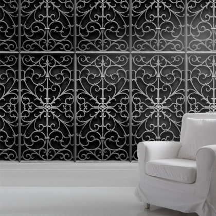 Mineheart Wrought Metal Gate Wallpaper