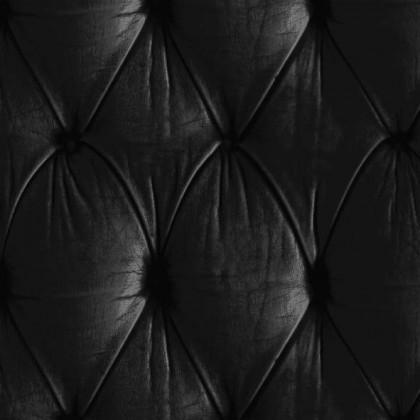 Mineheart Chesterfield Button Back Wallpaper - Black