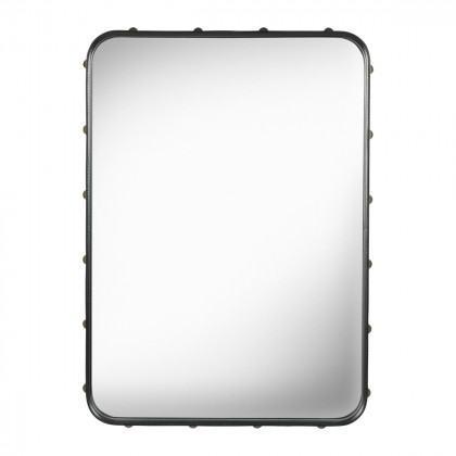 Gubi Adnet Mirror, Rectangular-Black Leather-Small
