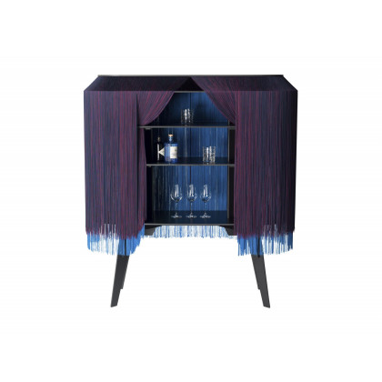 Ibride Alpaga Luxury Bar Cabinet